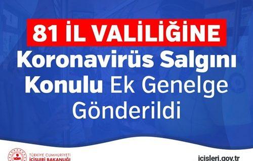 81 il valiligine koronavirus salgini konulu ek genelge gonderildi bandirma.com.tr