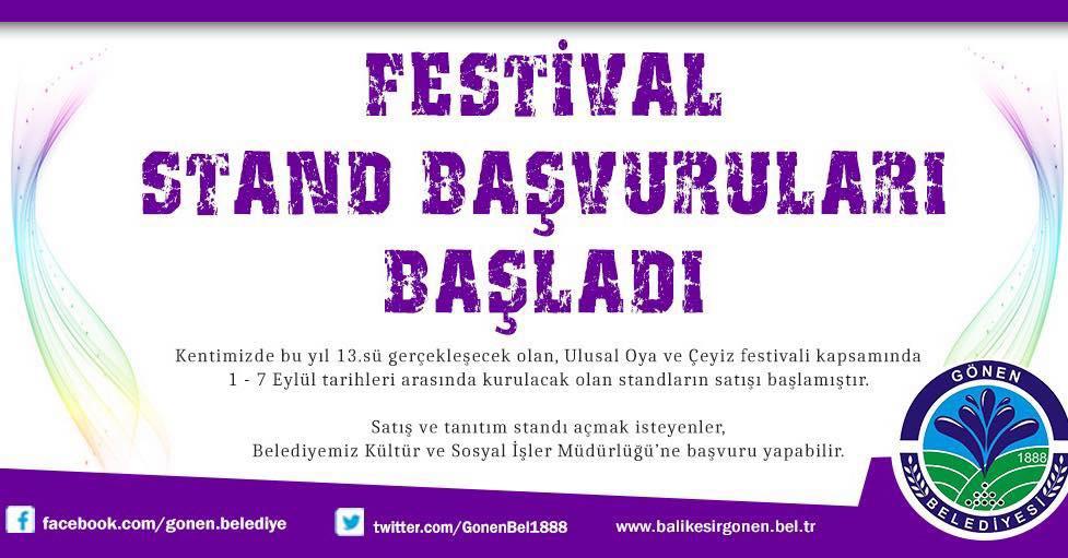 FESTİVAL STAND BAŞVURULARI BAŞLADI